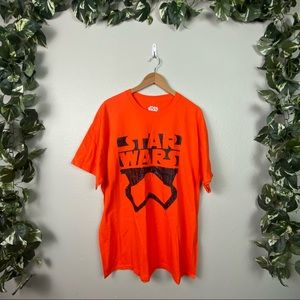 Star Wars Men's Graphic Short Sleeve Tee Orange